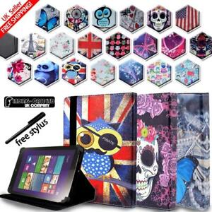 For Various Lenovo Tab 2/3/4 Tablet - Folio Stand Leather Cover Case + Stylus