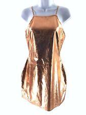 Hotsquash Women/'s Gold Metallic plissé une épaule Robe Longue Taille UK 12 NEW