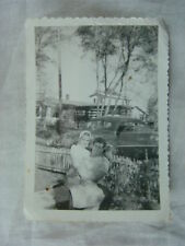 Vintage Car Photo Wrinkled Memory of the Good Life w/ 1950 Mercury 815