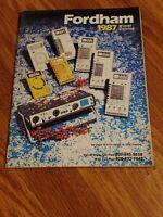Vintage 1987 Fordham Catalog Stereo Electronics Speakers Test Instruments