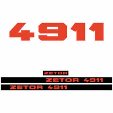 Zetor 4911 tractor decal aufkleber adesivo sticker set