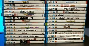 Nintendo Wii U Games Pick and Choose all in excellent condition and no scratches