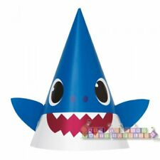 Baby Shark Cone Hats (8) ~ Baby Shower 1st Birthday Party Supplies Paper Favor