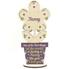 Mothers Day Gift Wooden Heart Nanny Birthday Christmas Gift From Grandchildren
