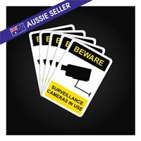 CCTV Sticker Decal sign security 70mm x 100mm warning notice camera 5 PIECES!!!!