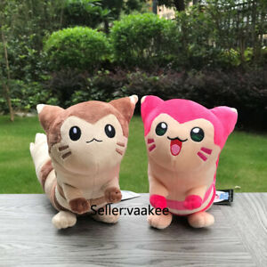 2 Style Brown & Pink Shiny Furret Plush Toys Cute Stuffed Toy Cartoon Soft Doll