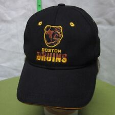 BOSTON BRUINS pooh bear logo spoked B baseball hat NHL hockey mascot cap CCM