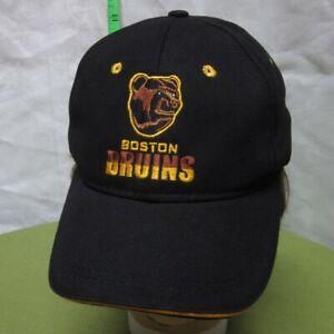 BOSTON BRUINS pooh bear logo spoked B baseball hat NHL hockey mascot cap CCM