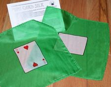 Card Silk set --two 9 inch silks--Two of Hearts, Blank Card, with routines  TMGS
