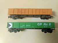 HO scale 2 Gondolla Car Lot Union Pacific A159   CP Rail CP 5322 With Loads