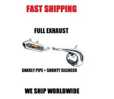 FMF GNARLY FULL PIPE EXHAUST + SHORTY SILENCER 11-15 HUSABERG TE250 TE300 TE 300