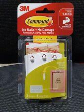 3M Command Damage- Hanging Sawtooth Picture Hook 3 Hanger 6 Strip 2kg 17042