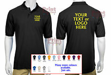 5x Personalised Embroidered Polo Shirts Work Wear Package FRONT&BACK Embroidery