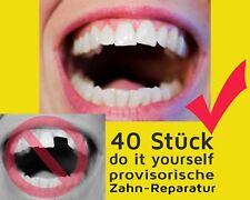 40 St. vorläufige ZAHN FÜLLUNG prov. Zahnersatz Reparatur teeth Granulat NEW