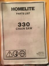 Homelite 330 chainsaw parts list
