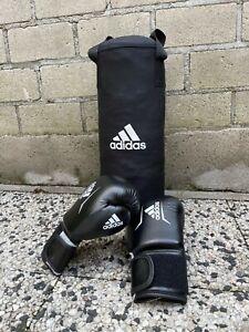 Boxsack für Kinder Adidas mit Boxhandschuhen - Set - Schwarz/ weiß