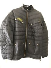 Barbour International Mens Black Aviemore Quilted Jacket Size S