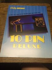 Bally/Midway 10 PIN DELUXE Shuffle Bowling Alley Game flyer- original