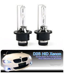 2 X 6000K HID D2S Xenon Light Bulbs Lamp Subaru Forester Impreza WRX STI A6 A4