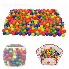 Click N' Play 400 Crush Proof Plastic Ball, Multi-Color Phthalate Free Pit Ball