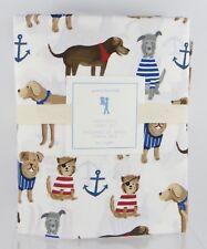 Pottery Barn Kids・Salty Dog Twin Sheet Set + Extra Case・Puppy Beach Madras NWT