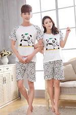 Animals Panda Women Men Sleepwear Pajama Set Nightwear Shirt & Shorts M-2XL