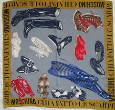 -Superbe Foulard   MOSCHINO  100% soie  TBEG  vintage scarf  collector
