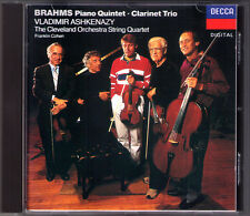 Vladimir ASHKENAZY: BRAHMS Piano Quintet Clarinet Trio CD Franklin Cohen DECCA