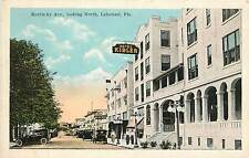 Florida, FL, Lakeland, Kentucky Ave Looking North 1920's Postcard