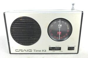 Craig Time Kit Battery AM FM Transistor Radio Vintage