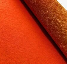 """Tela De Seda De Terciopelo Suave De Lujo Calidad Superior ~ precio por yarda X 44/"""" Naranja"""
