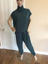 By Marlene Birger Green Jumpsuit Catsuit Size Small Uk 8-10 Women's