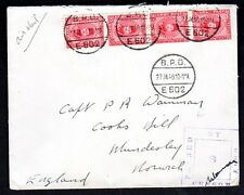 """EGYPT UK 1940 OFFICIAL ARMY STAMPED COVER TIED """"B.P.O. E602"""" WITH PASSED CENSOR"""