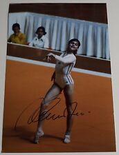 Nadia Comaneci SIGNED 12x8 Photo Autograph Olympic Gymnastics AFTAL Sport COA