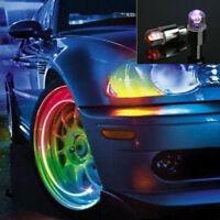 2PCS Multicolor LED Tyre Tire Valve Caps Bike Car Motorcycle Neon Light Lights