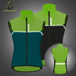 High Vis Reflective Waterproof Gilet & Vest for Cycling, Running, Horse Riding