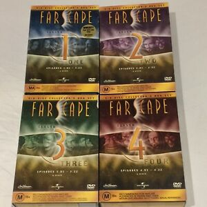 FARSCAPE Seasons 1,2,3,4 / 24 DVD Discs Complete Series Early 2000's 4 Box Sets