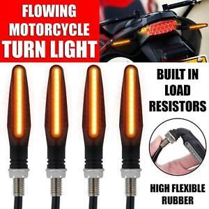 4x Universal 12 LED Motorbike Motorcycle Indicators Turn Signal Light 12V Amber