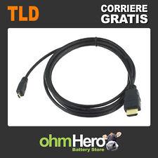 Cavo 1,8 Metri: HDMI A maschio > micro HDMI D maschio 1.4b High Speed