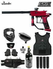 Maddog Azodin Kaos 3 Protective Hpa Paintball Gun Marker Starter Package Red