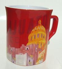 Guanajuato Mexico Souvenir Coffee Mug 8 Fl Oz Cup Red w/ White Interior Nescafe
