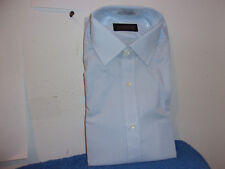 "BRAND NEW MEN'S ""BROOKWOOD"" BLUE L/S DRESS SHIRT..SIZE ..15 - 33..made in USA"