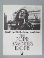 DAVID PEEL JOHN LENNON POPE SMOKES DOPE 1972 ORIGINAL PROMO FLYER POSTER APPLE