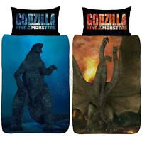 Godzilla vs Ghidorah Set Housse de Couette Simple Réversible Enfants Literie