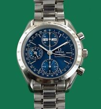 CONTEMPORARY OMEGA SPEEDMASTER TRIPLE DATE GMT HAND CHRONOGRAPH WATCH