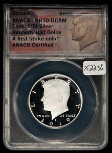 2019-S .999 Silver 50c Kennedy Half Dollar Proof - ANACS PR 70 DCAM - SKU-X2236