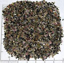 TOURMALINE MIX 4-10mm tumbled 1/2 lb bulk stones xmini green black pink