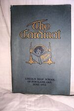 the CARDINAL 1914 LINCOLN HIGH SCHOOL YEAR BOOK OF PORTLAND ORE. fair con LOOK-C
