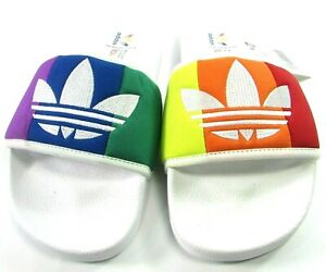 NWT Adidas Adilette Rainbow Slides Sandals Men's Size 5