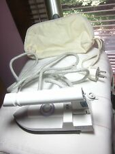 Travel Iron Collapsible Steam Dry Teflon Sole Hit Company Linen Travel Bag New